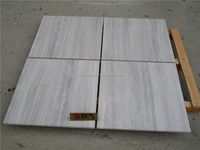 Chinese cheap White wooden marble cheap polished low price marble flooring tile