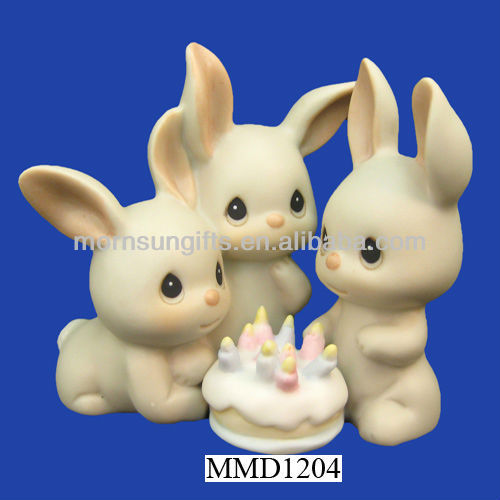 Polyresin rabbit figurines collectables