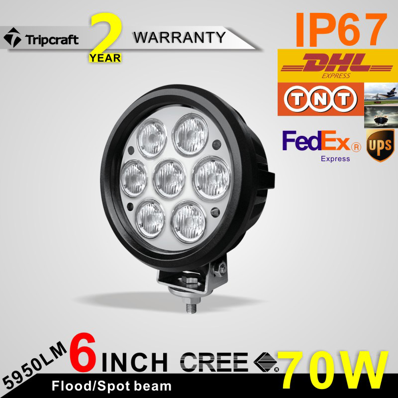 Factory Price Special Design 70 Watt Light high brightness Led Motorcycle Off road Working Light for trucks , cars , auto parts