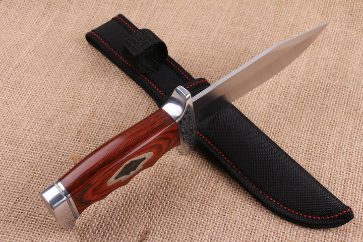 K313B Outdoor Hunting Knife Satin Surface 56HRC Tactical Tool Survival Knives 7571