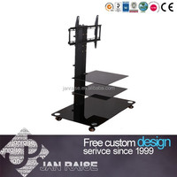 Height adjustable modern tv stand lcd tv stand with wheel OK-4085