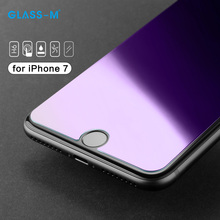 Newest Anti Blue Light Tempered Glass Cell Phone Screen Protector Film for iPhone 7
