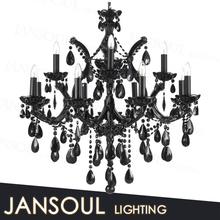 modern large cheap antique murano glass black k9 crystal chandeliers decorative pendant light