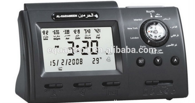 Automatic Muslim Digital Prayer Azan Alarm Tablet Clock