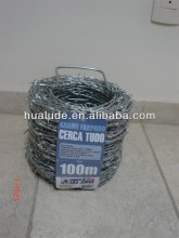 galvanized barbed wire with color lable and steel handle