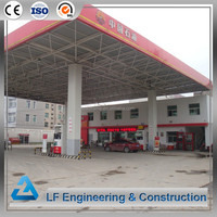 Corrosion-resistant galvanized steel structure design petrol station