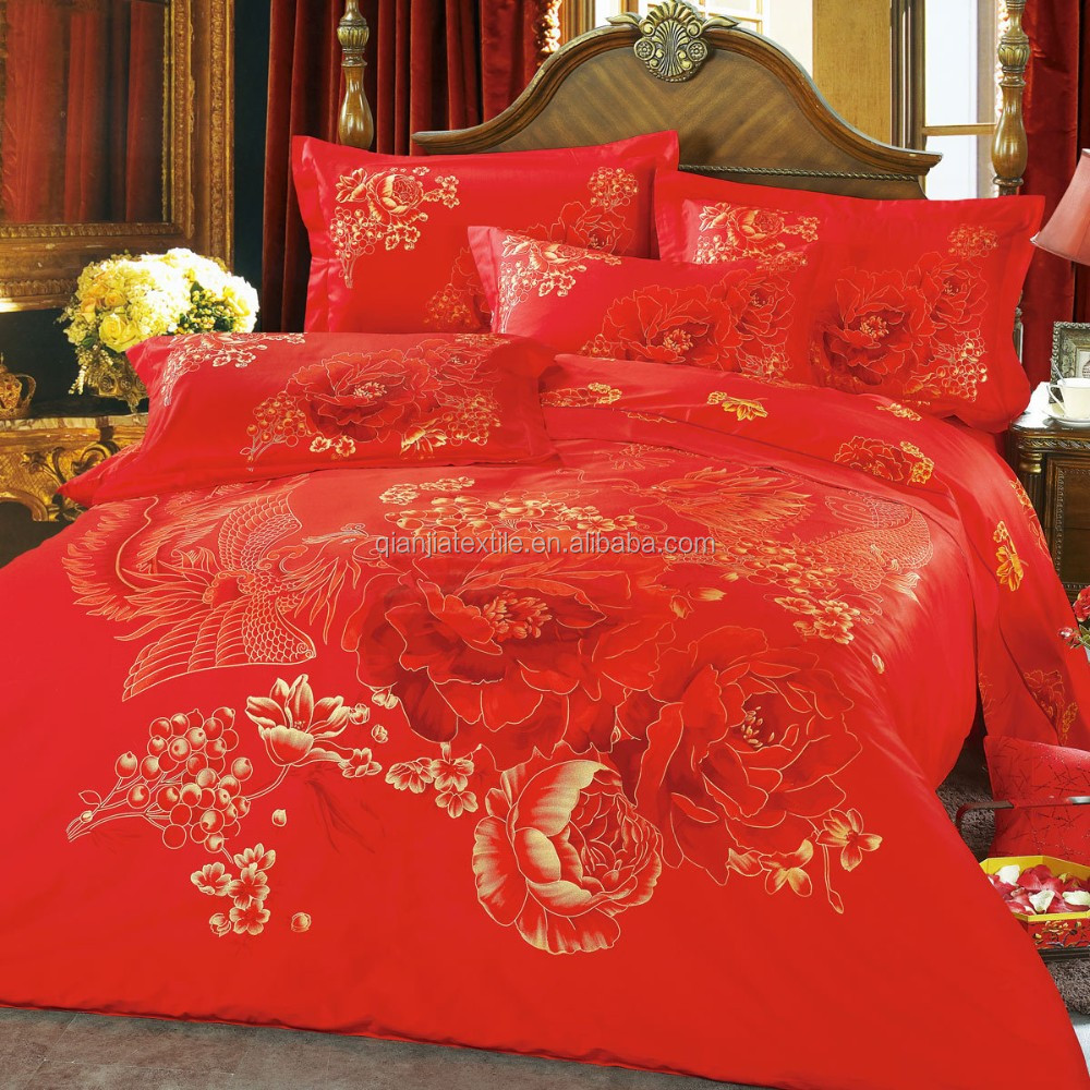 Wholesale polyester 3D printed bed sheet set in animal flower designs