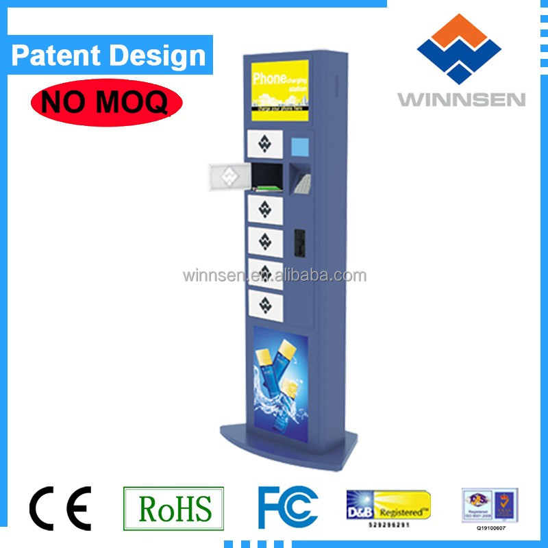 Self Service High Security Fast Charging Multi languages Android Network Cell Phone Charging Station Kiosk APC-06A