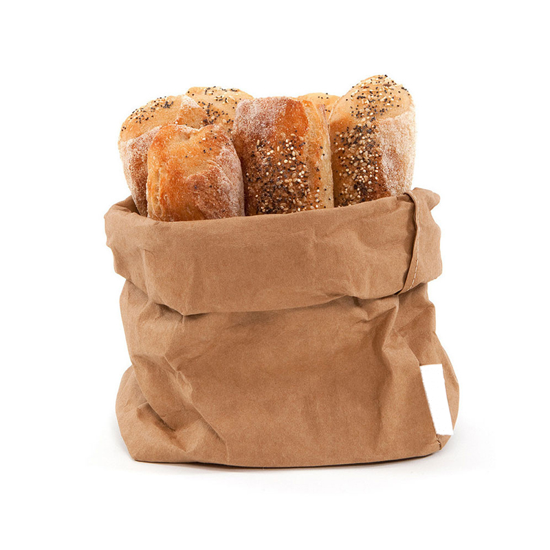 Brown Biodegradable waterproof kraft paper bag for food