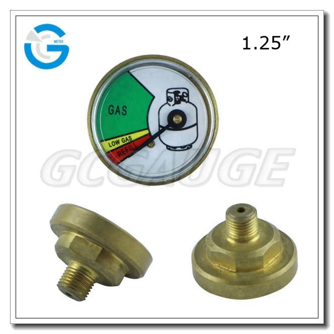 High quality 1.25 inch 32 mm types gas cylinder gauge