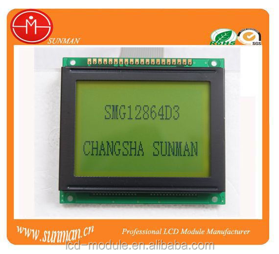 Blue background graphic lcd glass