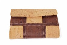Boshiho business wallets,leather female pocket,cork purse