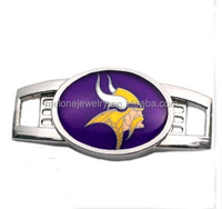 Sports Season Popular NFL Team Logo Shoelace Charms Minnesota Vikings Football Charm
