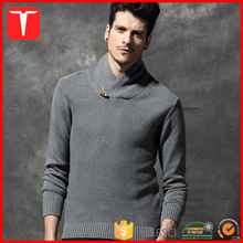 Fashion shawl collar pullover european style sweaters for men
