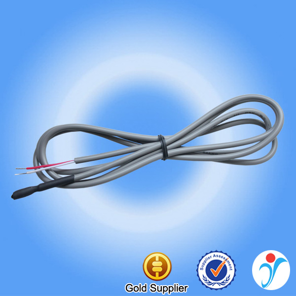 High accuracy thermal casing gray cable ntc water temperature sensor