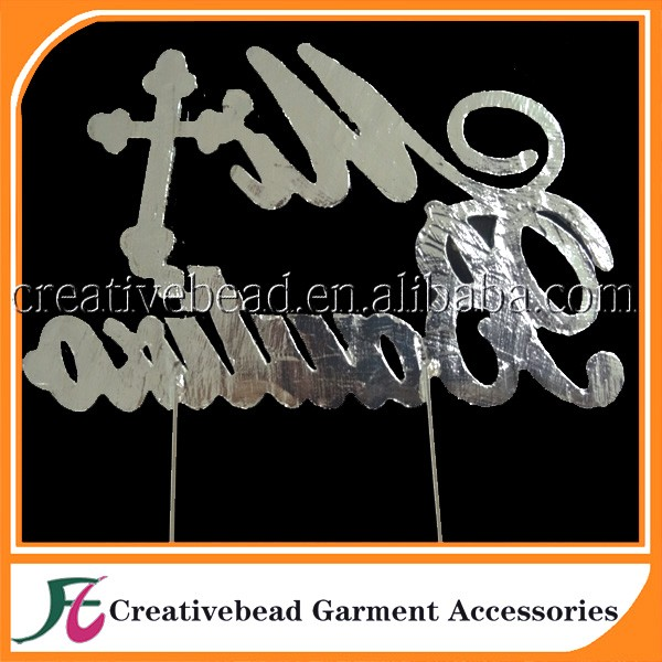 Fashion Design Bulk Letter Cross Baptism Christening Communion Cake Topper