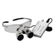 3.5X420 Dental Loupes Surgical Binocular Loupe Magnifier Silver Head Light BM-MG3017