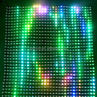 Flexible and foldable Led grid/lattice display screen for indoor and out door video/cartoon/text/picture display