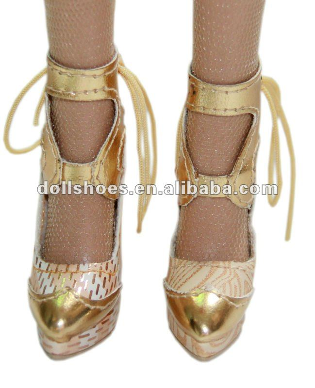 Fashion snake pattern PU high heel BJD shoes, cute mini shoes for 1/6 bjd, doll accessories