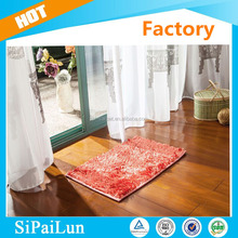 2015 new customized size and colors rubber backed washable rugs