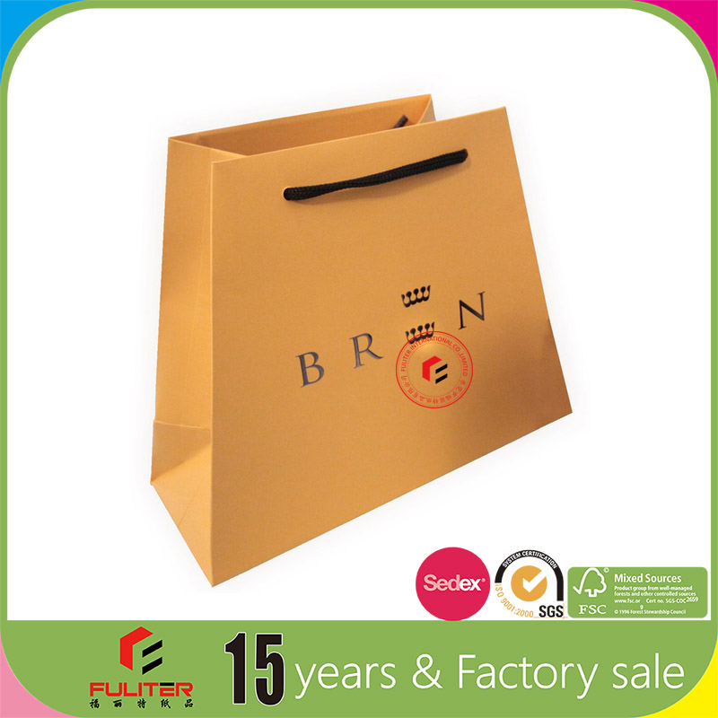 Wholesale luxury paper types shopping bags