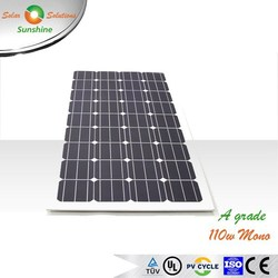 Sunshine 110w Mono A Grade Solar Panel Solar Module for 12V Solar Power System/Street Light/Battery Charging