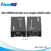 Foxun SX-EX11 1080P HD Video 50m Cat5e/6 HDMI Extender Video Transmitter and Receiver Supports 3D