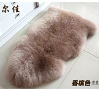 Home Decorative Living Room Wholesale sheepskin rugs Double Luxurious Australia real Sheepskin natural rugs