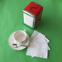 wholesale 1ply white dispenser napkin paper tissue for fast food restaurant
