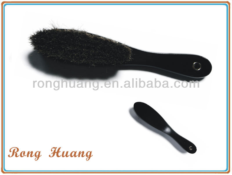 Horse hair brush with long handle