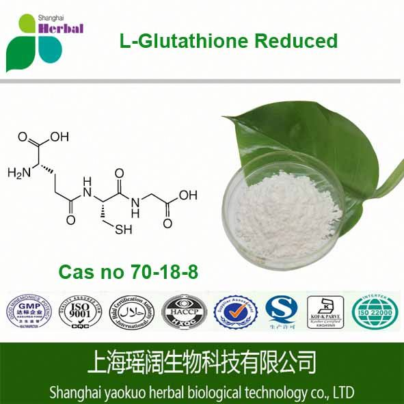 Hot selling Glutathione / L-Glutathione Reduced 99% JP; USP; Skin whittening