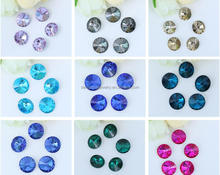 6MM to 30MM AAA Quality Colorful Wholesales Point Back Loose Shapes Round Crystal Glass Beads for Jewelry Cloth Decorating Cheap