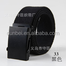 factory wholesale custom 2016 fashion colorful cheap canvas belt with black buckles