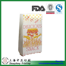 cold or hot food packing food bag for fried chicken, hamburger chain restaurant