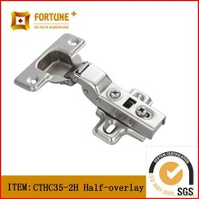 Adjustable bookcase clip on cabinet normal hinge