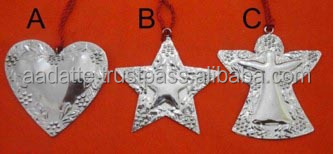 Beautiful metal ornaments christmas tree decoration