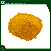 Fine powder iron oxide yellow pigment for coating concrete