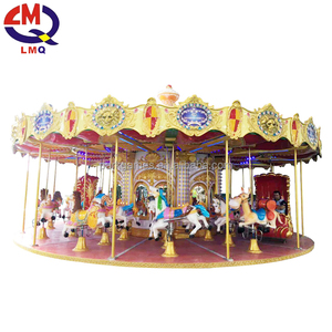 Hot sale 16 seats merry go round cheap amusement park electric musical luxury used kid carousel ride for sale