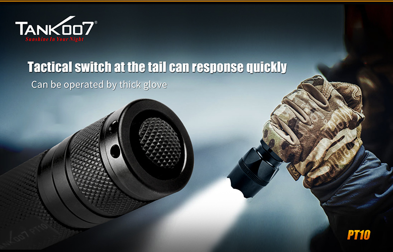 2017 top sales xm-l t6 Tactical small sun flashlight 700lumens