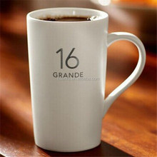 Best selling products new desgin custom LOGO like starbucks ceramic porcelain coffee mug in stock