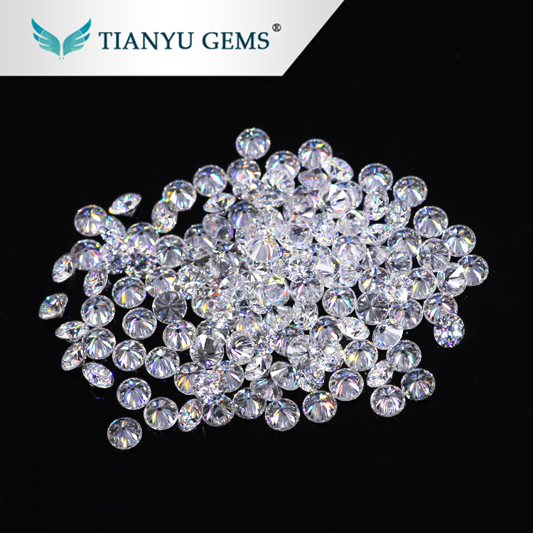 Wholesale 1.9mm Round Brilliant Cut Synthetic forever one Brilliant White moissanite loose <strong>stones</strong>