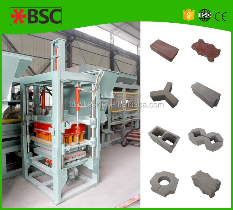 QT40-1 Great quality electric block brick making machine and hollow concrete blocks making business plan