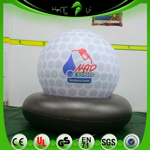 White Color Printing Customers Logo Inflatable Balloon With Black Base