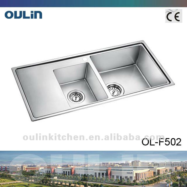 Kitchen accessories stainless steel commercial sink (OL-F502)