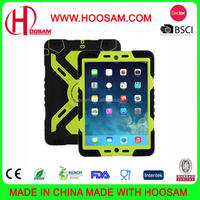 Hot Sale Case for IPad Mini 3 & 2 & 1 Silicone Plastic Kid Proof Extreme heavy Duty Dual armor defender Protective