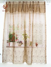 new popular embroidered pattern american curtain tape home fashion ready made voile curtain