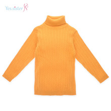 Custom Colorful High Neck Cable Knit Sweater Designs For Kids