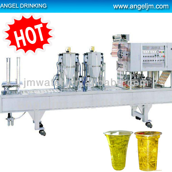 2018 hot sell seraph plastic cup filling sealing machine/mineral water cup filling and sealing machine for factory