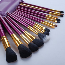 Factory directly selling private label 15 pcs High-end makeup brush set wooden handle makeup brush kits OEM is welcome