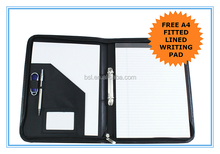 Portfolio CR-A500 A4 Zipped Conference Folder 2 RING BINDER Presenter Leather Portfolio Filofax